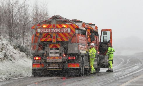 TRUE GRIT: Gritting lorries on the M7 motorway in Co Limerick. Photograph: Niall Carson/PA Wire