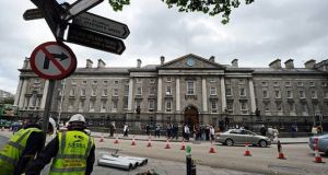 "Dublin Chamber says it is ""vital"" that College Green continues to function as a ""transport artery"" after the plaza is built. Photograph: Getty Images"