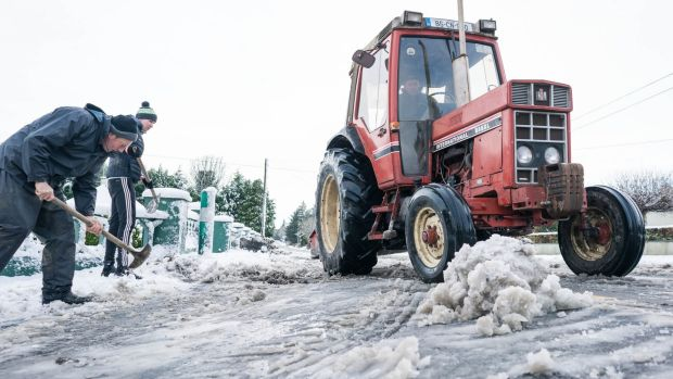 Snow and Storm Caroline heading for Ireland