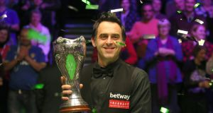 Ronnie O'Sullivan secured a sixth UK Championship success on Sunday night. Photograph: Richard Sellers/PA