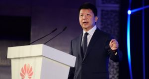 Guo Ping, a deputy chairman of Chinese communicaitons giant Huawei and one of its rotating chief executives, who will  will sign a research collaboration accord with Trinity College  on Monday.