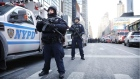 Explosion rocks New York commuter hub, one suspect in custody