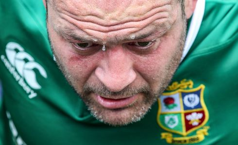 Rory Best during squad training, British & Irish Lions Tour training, Vale Of Glamorgan, Cardiff, Wales in May.   Photograph: Dan Sheridan / INPHO