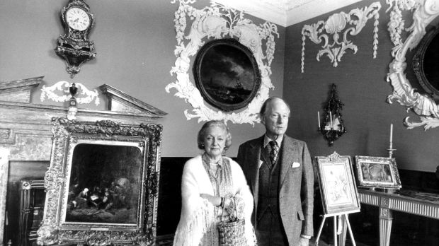 Sir Alfred and Lady Beit in their home at Russborough House, Co Wicklow in 1978. Photograph: Dermot O'Shea