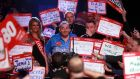 Darts has changed massively  during Phil Taylor's time in the sport with the atmosphere  during games now  like a big Saturday night out. Photograph: Sean Dempsey/PA Wire