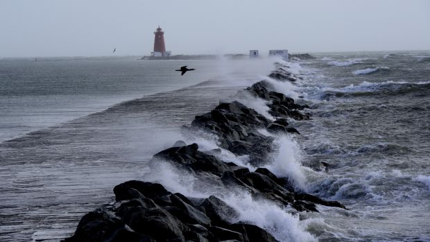Storm Ophelia: The storm had dramatic effects on the coastline. Photograph: Cyril Byrne/The Irish Times