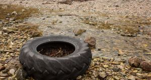 Discarded tyres constituted a significant litter nuisance. Photograph: Getty Images