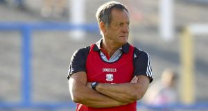 New Cork hurling manager John Meyler will open his term in charge against Limerick in Mallow. Photograph: Ken Sutton/Inpho