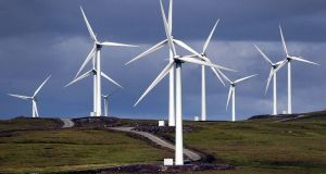 Ireland produced its largest amount of renewable electricity ever last year, on the back of the introduction of an additional 400 megawatts of power from wind turbines. Photograph: PA
