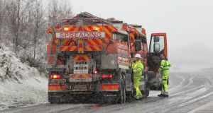 Gritting lorries on the M7 motorway  near Birdhill, Co Limerick. Photograph: Niall Carson/PA Wire