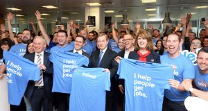 Former taoiseach Enda Kenny  at the announcement of Indeed's  jobs and expansion plans earlier this year