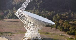 The Green Bank radio telescope in West Virginia, US. Photograph: NRAO/AUI/PA Wire
