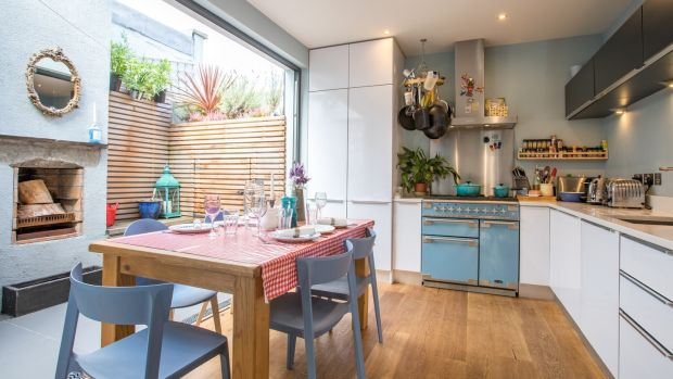Kitchen and outdoor space at 41 Niall Street, Stoneybatter, Dublin 7