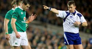 Nigel Owens will referee Ireland's Six Nations opener against France. Photograph: James Crombie/INpho