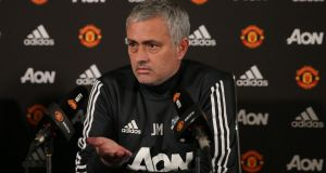 Manchester United manager José Mourinho speaks during a press conference at Aon Training Complex ahead of their clash with Bournemouth. Photo: Matthew Peters/Man Utd via Getty Images