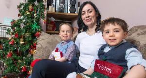 Yvonne Cahalane with Tristan Forde (3) and his brother Oscar (5) at home in Dunmanway, Co Cork.  Photograph: Michael Mac Sweeney/Provision