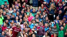 Galway's Joe Canning looks on as his late point wins the All-Ireland SHC semi-final against  Tipperary at Croke Park. Photograph: James Crombie/Inpho