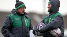 "Connacht head coach Kieran Keane with backs coach Nigel Carolan at squad training in the Sportsground, Galway. ""The most important thing for Connacht is consistency,"" said Carolan. Photograph: Oisin Keniry/Inpho"
