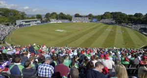 A general view from Malahide Cricket Ground where Ireland will take on Pakistan in their first ever Test match next year. Photo: Rowland White/Inpho