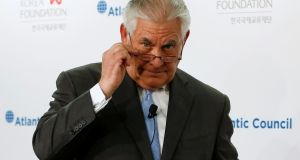 US secretary of state Rex Tillerson: has previously expressed a desire to use diplomatic channels with Pyongyang. Photograph:  REUTERS/Jonathan Ernst