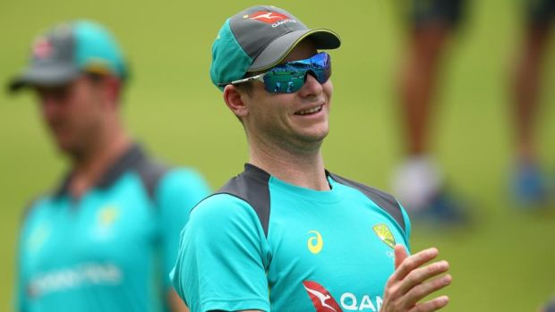 Australia captain Steve Smith ahead of the third Test in Perth. Photograph: Paul Keane/Getty