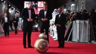 'May the force be with you': BB8 bows to princes at Star Wars premiere