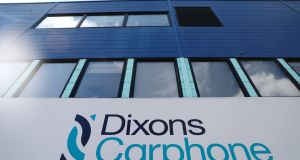 Dixons Carphone trades as Currys, PC World and Carphone Warehouse. Photograph: Neil Hall/Reuters