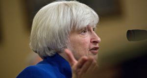 Janet Yellen is likely to field questions about how the Fed feels about tax cuts.  Photograph: Bloomberg