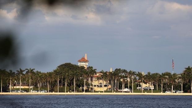 Mar-a-Lago in Palm Beach, Florida, the exclusive private members' club owned by Donald Trump. Photograph: Joe Raedle/Getty Images