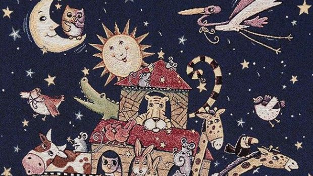 Noah's Ark baby blanket from Loominations