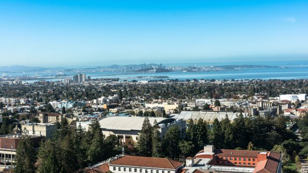 A view of Berkeley and the Bay Area from the Sather Tower, a campanile at the centre of the campus of the University of California, Berkeley. Photograph: iStock