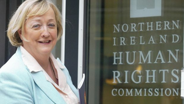 Prof Monica McWilliams in her Belfast office in 2005 as she took up the position of head of the province's Human Rights Commission. Photograph: Paul Faith/PA