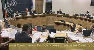 Members of the Oireachtas Committee on the Eighth Amendment at their meeting on Wednesday.