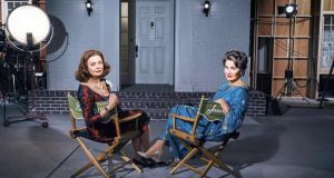 Susan Sarandon as Bette Davis and Jessica Lange as Joan Crawford in Feud: Bette and Joan (Saturday, BBC Two, 9pm)