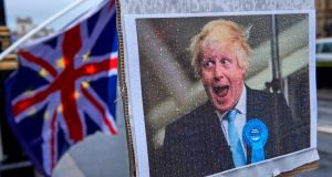Boris Johnson: known for humming England's national anthem during negative Brexit briefings Photograph: AFP