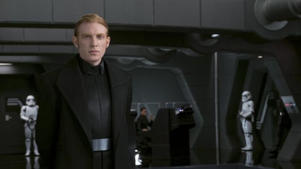 Domhnall Gleeson: still the same as he was in college. Or possibly Star Wars. Photograph: Lucasfilm