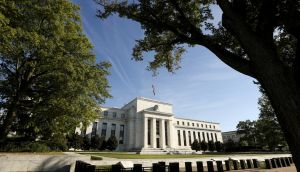 Federal Reserve HQ, Washington: The Fed raised interest rates by a quarter of a percentage point on Wednesday, as anticipated, but left its rate outlook for the coming years unchanged. Photograph: Kevin Lamarque/Reuters
