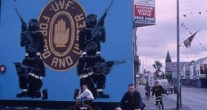 A UVF street mural in Belfast. Former UVF commander Gary Haggarty (45) has been sentenced to life imprisonment for aiding and abetting in murder. File photograph: Getty Images