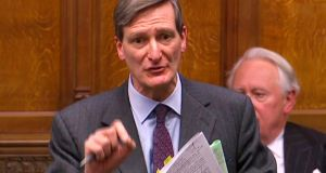 The amendment to the European Union (Withdrawal) Bill, proposed by former attorney general Dominic Grieve (above in Parliament today), prevents the British government from implementing any withdrawal deal with the EU without the backing of MPs through a new Act of parliament. Screengrab: PRU/AFP/Getty Images