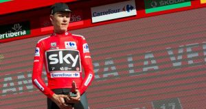 Chris Froome, four-time winner of the Tour de France, has been tested positive for the bronchodilator 'Salbutamol' during the 2017 Tour of Spain that he won. Photo: Jaime Reina/Getty Images