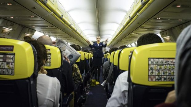Ryanair seating policy: thousands of passengers said they had been split up regardless of when they checked in and how many seats were available on their aircraft. Photograph: Paulo Nunes dos Santos/New York Times