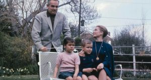 Princess Grace  and Prince Rainier of Monaco with  their  children Caroline and Albert in the  1960s. Photograph: Rolls Press/Popperfoto/Getty Images