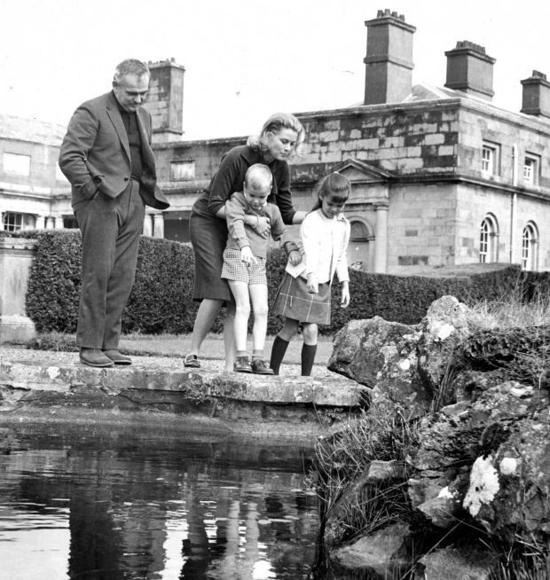 Prince Rainier, Princess Grace, Prince Albert and Princess Caroline at Carton House, Maynooth. Photograph: Eddie Kelly