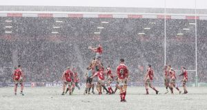 Ulster welcome Harlequins to Belfast following last weekend's win in a snowy London. Photograph: Henry Browne/Getty