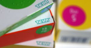 Teva employs about 580 people in Ireland, where it has a manufacturing plant in Waterford and a commercial operation in Dundalk. Photograph: Chris Ratcliffe/Bloomberg