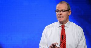 Minister for Foreign Affairs Simon Coveney: Nothing that commits the EU to a specific Brexit time period. Photograph: The Irish Times