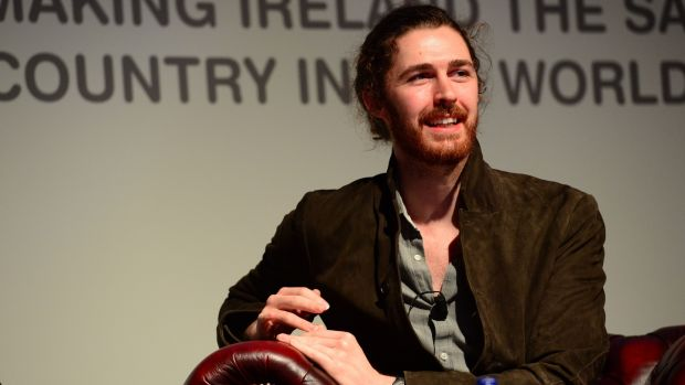 Back to church: Hozier. Photograph: Dara Mac Dónaill