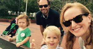 Trisha O'Neill: 'With an Australian husband and us living in the US for the past five years,  travelling with two young kids has become the norm.'