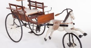 Lot 36, A child's wooden pedal horse (€350-€450) to be auctioned at Mealy's, Castlecomer on Tuesday