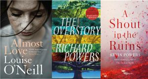 Almost Love by Louise O'Neill; The Overstory by Richard Powers; A Shout in the Ruins by Kevin Powers